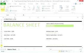Microsoft Excel Balance Sheet Templates Microsoft Balance Sheet Template Balance Sheet Of Simple
