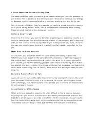 Executive Resume Writing