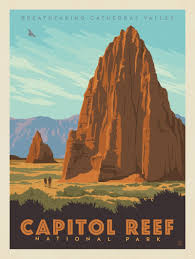 National Parks Posters Anderson Design Group Capitol Reef National Park Cathedral Valley Anderson