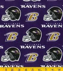 baltimore ravens cotton fabric purple