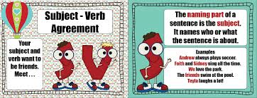 Subject Verb Agreement Chart Subject Verb Agreement Lessons Tes Teach