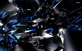 Black And Blue Design Black And Blue Crystals Wallpaper 3d Wallpapers 9419
