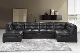 Cloud Modular Sectional Black Leather