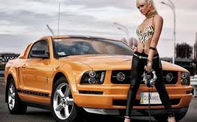 Ford mustangs naked women