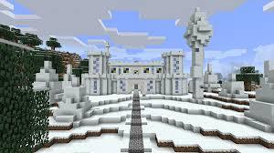 マインクラフト建築 雪のお城