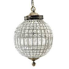 metal pendant lighting. Nordal Large Crystal Ball Pendant Lamp - Glass Beads / Metal Ø35cm Lighting R