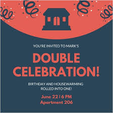 Birthday And Housewarming Party Invitation Melaniekannokada Com