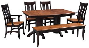 Amazoncom Solid Wood Dining Room Kitchen Table Set Amish Made