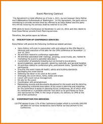 Event Planning Services Agreement Sample Contract For Event Planning Services Kadil