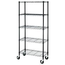 5 shelf metal rolling racks 5 shelf black steel wire shelving by by inch storage rack 5 shelf metal