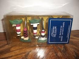 nautical bath lighthouse shower curtain hooks jc penney home collection 12 nip
