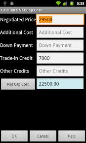 Car Lease Calculator Amazon Com Car Leasing Calculator Free Appstore For Android