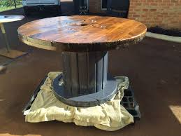 picture of large cable drum table