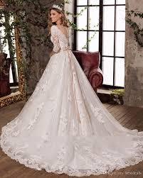 Latest Wedding Gown Designs 2018 New Design Sexy V Neck Elegant Bow Princess Wedding Dresses Gorgeous Appliques Vestido De Noiva Half Sleeves Hot Sale Designer Dresses For