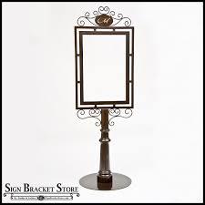 Decorative Sign Posts Freestanding Decorative Metal Sign Frame 63