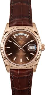 rolex president rose gold at bob s watches 100% rolex click image above to enlarge