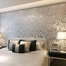 fl textured damask design glitter wallpaper for living room