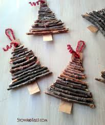 Rustic Christmas Ornaments Rustic Twig And Cardboard Christmas Tree Ornaments Stowandtellu