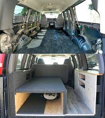 Van Conversion In A Chevy Express Chevy Express Conversion Van Camping Van Camping