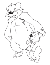 Small Picture Bear and Cub coloring page Download Free Bear and Cub coloring