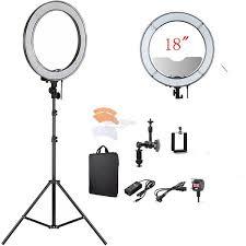 makeup light stand. rl-18 led ring light make up, photo, video + mirror phone holder makeup stand t