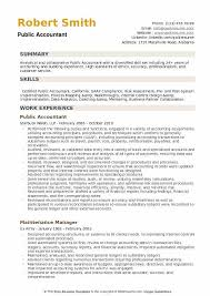 Example Of Accountant Resumes Public Accountant Resume Samples Qwikresume