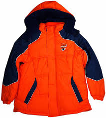 ixtreme big boys hooded puffer winter jacket orange navy