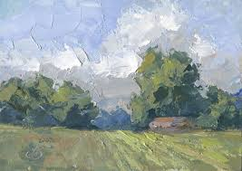 landscape palette knife painting by tom brown