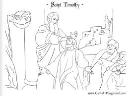 Small Picture St Timothy coloring page January 26th Catholic Playground