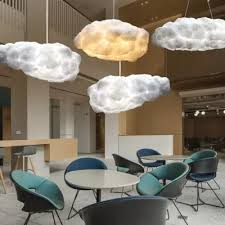 Nordic Clouds Pendant Lights Silk Lamp Dark Clouds Hanglamp ...