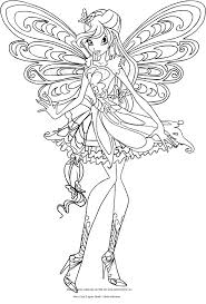 Disegno Di Bloom Butterflix Winx Club Da Colorare