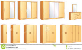 Mirrored Bedroom Wardrobes Bedroom Furniture Wardrobes Dressing Commode Stock Photo Image