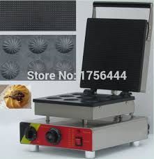 Free Shipping 9pcs 110v 220v Electric Commercial Chocolate Waffle