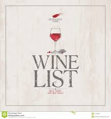 Free Wine List Template Wine List Menu Template Stock Vector Illustration Of List 24 1