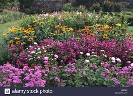 Walled Kitchen Gardens Parham Sussex Annuals Cut Flower Borders In Walled Kitchen Garden