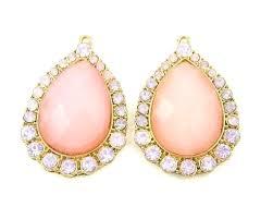 blush chandelier earrings pink chandelier earrings pink chandelier earring findings rhinestone drop bridal jewelry findings pair