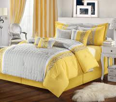 yellow and gray bedroom to get better sleeping quality luxury comforter sets california king