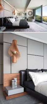 bedroom modern lighting. in this modern master bedroom sculptural wood pendant lights act as bedside lamps while lighting h