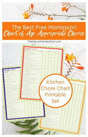 The Best Free Montessori Chart Of Age Appropriate Chores
