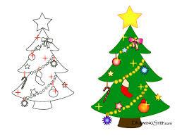 Final Drawings of Cartoon Christmas Trees