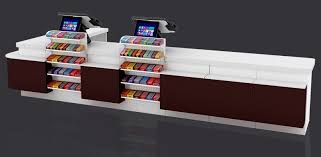china all cold rolled steel double countertop cashier table counter desk for china counter checkout
