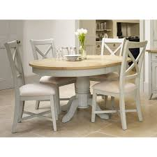 mark webster bordeaux 113cm painted cool grey round dining table 4 chairs