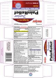 Jr Strength Acetaminophen Dosage Chart Ndc 41250 449 Pain Relief Junior Strength Acetaminophen