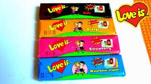 Распаковка жевательных <b>конфет Love is</b>. Вкладыши Лав из ...