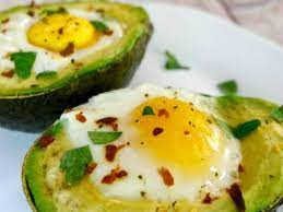 baked avocados with eggs step away