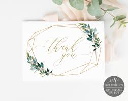 Baptism Card Template Thank You Card Template Instant Download Fully Editable