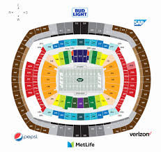 Giants Metlife Seating Chart Examples Metlife Stadium Seating Chart With Seat Numbers
