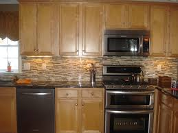 Mosaic Tile Kitchen Backsplash Kitchenquartz Countertops With Oak Cabinets With Honey Oak
