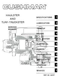 service manuals vintage golf cart parts inc cushman golfster parts at Cushman Golf Cart Wiring Diagram