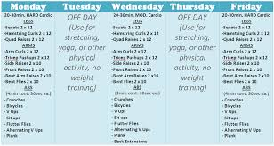 Weekly Exercise Plans